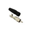 RCA Connector , CCTV RCA Male Solderless Connector for GR59 Cable, CT5026