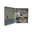 12VDC 10A 18Ch CCTV Power Supply with Lock and LED on Door 12VDC10A18PE