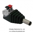 Screwless Terminals 2.1mm CCTV Power Connector , DC Power Male Connector