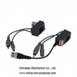 75 Ohm Video Power Balun , 1 Channel Video Power Audio Balun, VB213B&C