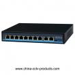 8+2 Port 10/100Mbps PoE Network Switch with RJ45 Uplink (POE0820BN)