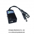 Twisted Pair Active Video Balun , CCTV Video Balun with Power output