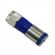 F Male Compression Connector for RG6 Blue/ CCTV Connector CT5065