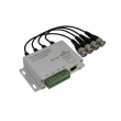4 Channel BNC to RJ45 /CAT-5 Video Transceiver, Passive CCTV UTP Video Balun VB204A