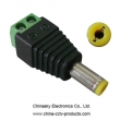 Male DC plug with terminal screws,Tuning fork DC plug,2.1*5.5mm