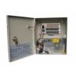 12VDC 5Amp 9 Channel Boxed CCTV Power Supply with Lock and LED on Door 12VDC5A9PE