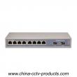 10 Port Enhanced Full Gigabit Fiber POE Switch with 8 Port PoE 2 Port S (POE0802SFP-3)