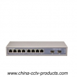 8 RJ45 Port+ 2 SFP Port Gigabit Switch with Built in Power